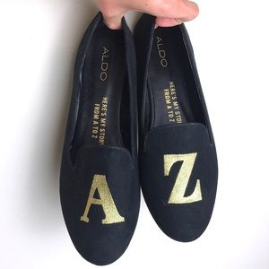 ALDO Here's My Story From A to Z Black Loafers